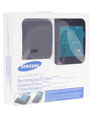 Набор флип-книжка+беспроводное ЗУ Samsung EP-KG900PBRGRU черный