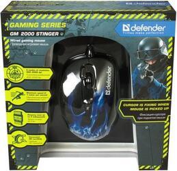 Мышь игровая проводная Defender GM-2000 Stinger USB