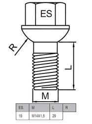 Болты-секретки HEYNER W3 42559