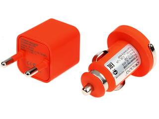 Сетевое + автомобильное зарядное устройство Deppa Ultra Colour 11163