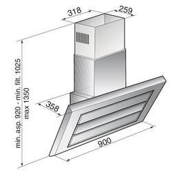 Вытяжка каминная Korting KHC 9959 X серебристый