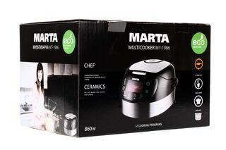Мультиварка Marta MT-1986 серебристый, черный