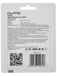 Память OTG USB Flash Qumo Hybrid  8 Гб