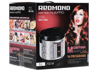 Мультиварка Redmond RMC-M26 серебристый