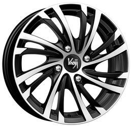 Автомобильный диск Литой K&K Мейола 6x15 4/100 ET 45 DIA 56,6 Алмаз черный