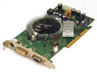 Видеокарта AGP GeForce 7600  GT 512MB 128bit GDDR2 [Inno3D] DVI DSub