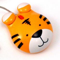 Мышь проводная Мышь детская оптическая (Тигр)