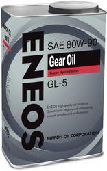Трансмиссионное масло ENEOS 80W90 GL-5 OIL1372