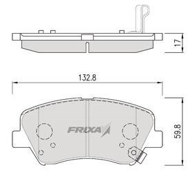 Тормозные колодки Hankook Frixa FPH26