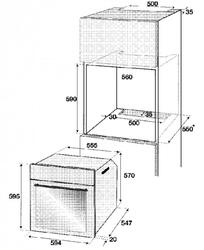 Комплект встраиваемой техники Beko OSC 22130 X