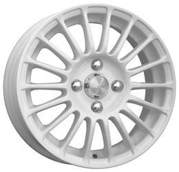 Автомобильный диск Литой K&K Турнео 5,5x14 4/100 ET 37 DIA 67,1 Алмаз вайт