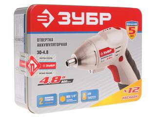Аккумуляторная отвертка Зубр ЗО-4.8