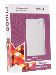 Портативный аккумулятор DEXP SLIM XXL белый
