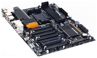 Плата Gigabyte Socket-AM3+ GA-990FXA-UD7 AMD990FX/SB950 4xDDR3-1866 6xPCI-Ex16 8x 8xSATA3 eSATA3 2xUSB3 GLAN ATX