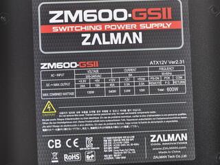 Блок питания Zalman GS2 600W [ZM-600GS2]