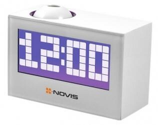 Часы проекционные с будильником Novis NCR-100 белые