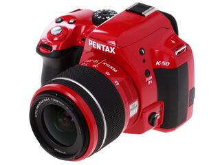 Зеркальная камера Pentax K-50 kit DA L 18-55mm WR красный