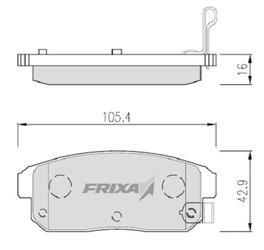 Тормозные колодки Hankook Frixa FPS01NR
