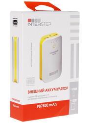 Портативный аккумулятор InterStep IS-AK-PB 7800 UWY-000B201 желтый, белый