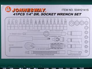 Набор торцевых головок Jonnesway S04H2141S