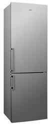 Холодильник с морозильником Candy CBSA 6185X серебристый
