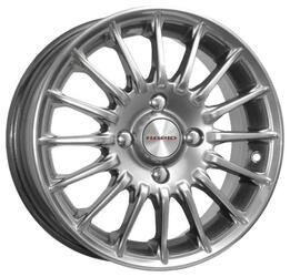 Автомобильный диск Литой K&K Формула 6x15 4/108 ET 46 DIA 67,1 Блэк платинум
