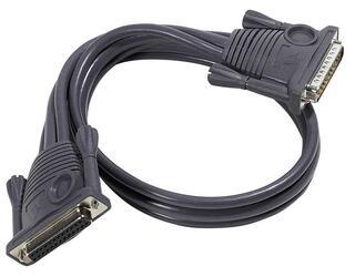 [ATEN 2L-1700] Шнур, мон+клав+мышь PS/2, DB25=\>DB25, Male-Female, 8+2x6 проводов, опрессованный,   0.6 метр., серый, (улучш.характеристики)