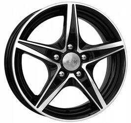 Автомобильный диск Литой K&K Мустанг 5x14 4/100 ET 35 DIA 67,1 Алмаз черный