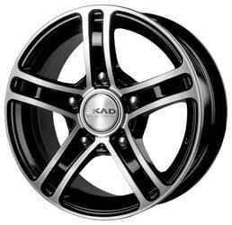 Автомобильный диск Литой Скад Трофи 6,5x15 5/139,7 ET 40 DIA 98,5 Черный матовый
