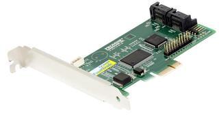 Контроллер SATA [4-port SATA], RAID 0/1/0+1/JBOD, PCI-Ex1