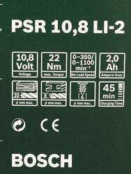 Шуруповерт Bosch PSR 10.8 Li-2