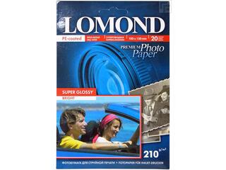 Бумага Lomond 10x15cm [1101109] 210 г/м2 суперглянцевая односторонняя 20 листов