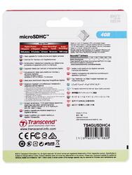 Карта памяти Transcend microSDHC 4 Гб