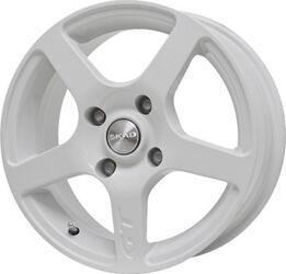 Автомобильный диск Литой Скад Омега 6,5x15 5/114,3 ET 52,5 DIA 67,1 Алмаз вайт