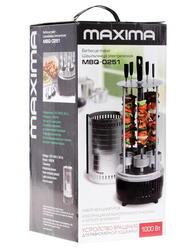 Электрошашлычница Maxima MBQ-0251 серебристый