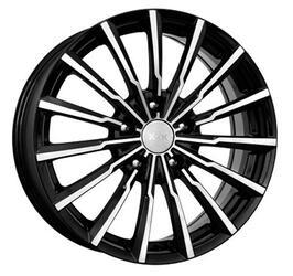Автомобильный диск литой K&K Акцент 7x17 5/114,3 ET 38 DIA 66,1 Алмаз черный