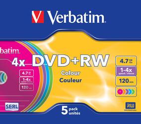 Диск Verbatim DVD+RW Colours 4.7Gb