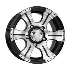 Автомобильный диск литой K&K Байконур Джип-рейд 8x16 5/139,7 ET -15 DIA 110,1 Алмаз черный