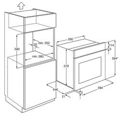 Электрический духовой шкаф AEG BE 3003001 M