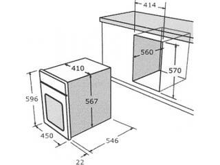 Электрический духовой шкаф Nardi FEA 2551 X
