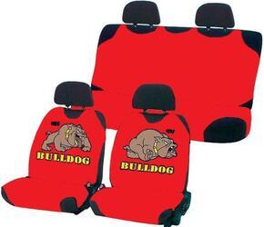 Чехол на сиденье майка в комплекте H&R BULDOG эластик, красный,