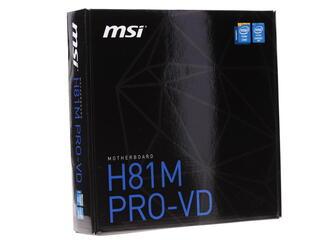 Материнская плата MSI H81M PRO-VD