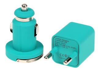 Сетевое + автомобильное зарядное устройство Deppa Ultra Colour 11164