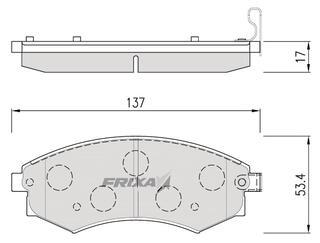 Тормозные колодки Hankook Frixa FPH02F