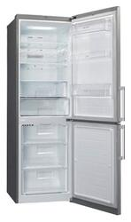Холодильник с морозильником LG GA-B439EMQA серый
