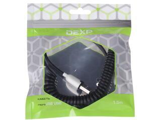 Кабель DEXP UMBST150 USB - micro USB черный, белый
