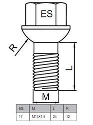 Болты-секретки HEYNER L2 42540