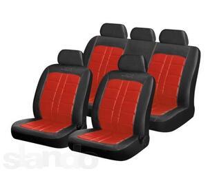 Чехол на сиденье H&R RODEO иск.кожа, черный/красный