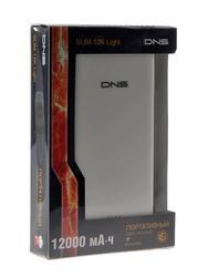 Портативный аккумулятор DNS SLIM-12K Light белый
