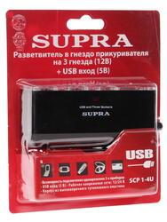 Разветвитель автоприкуривателя Supra SCP 1-4U